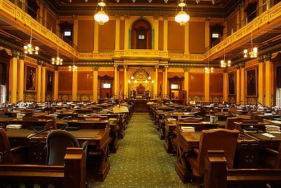 Lansing, Michigan, USA --- House of Representatives Chamber in Michigan State Capitol --- Image by © Richard Cummins/CORBIS
