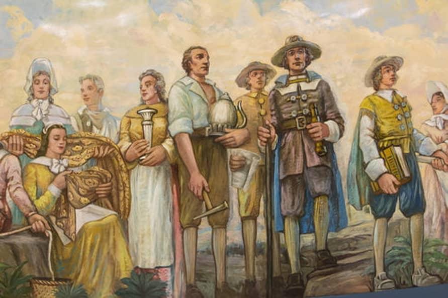 RI Capitol Building Rotunda Mural