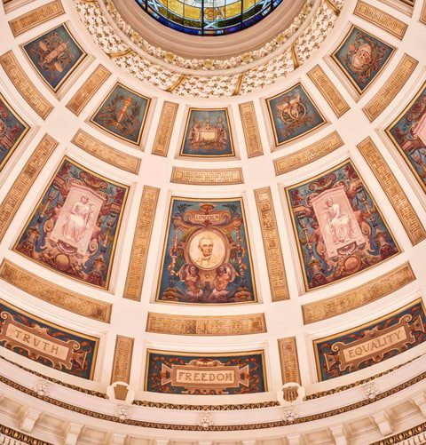 Dome Mural: After Conservation