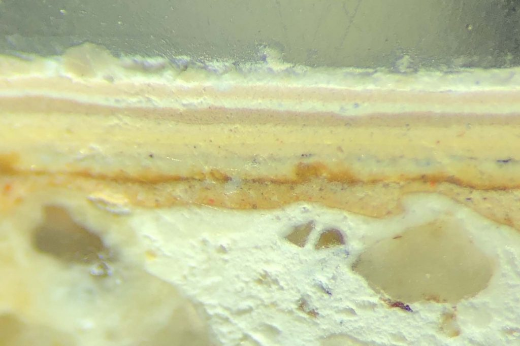 Paint Section Under Microscope
