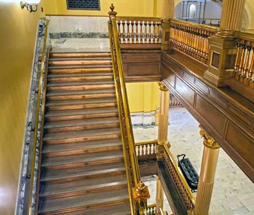 Kansas Statehouse Restoration Stairs