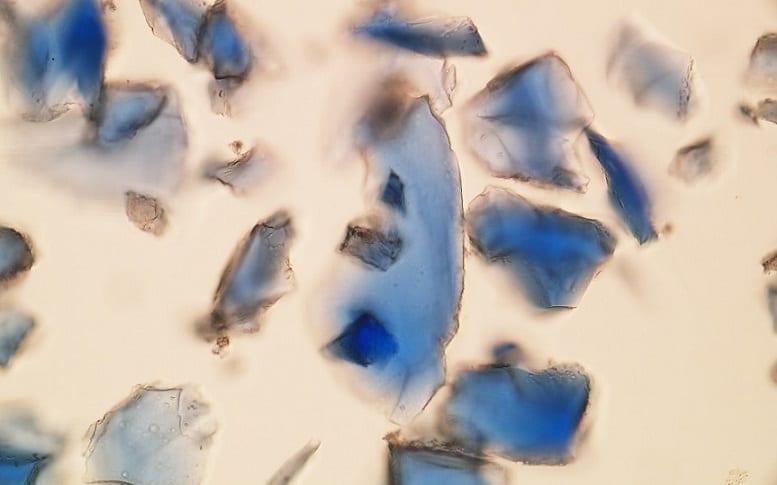 PLM Azurite pigment
