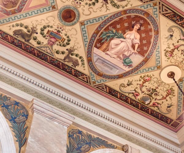 South Lobby: Ceiling Mural after conservation