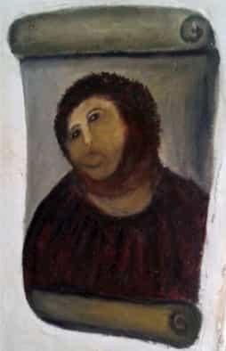 ecce homo jesus painting after restoration