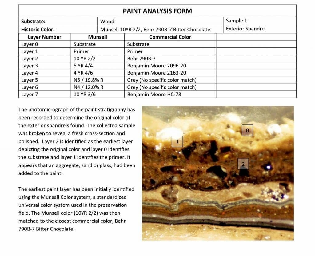 Paint Analysis Form
