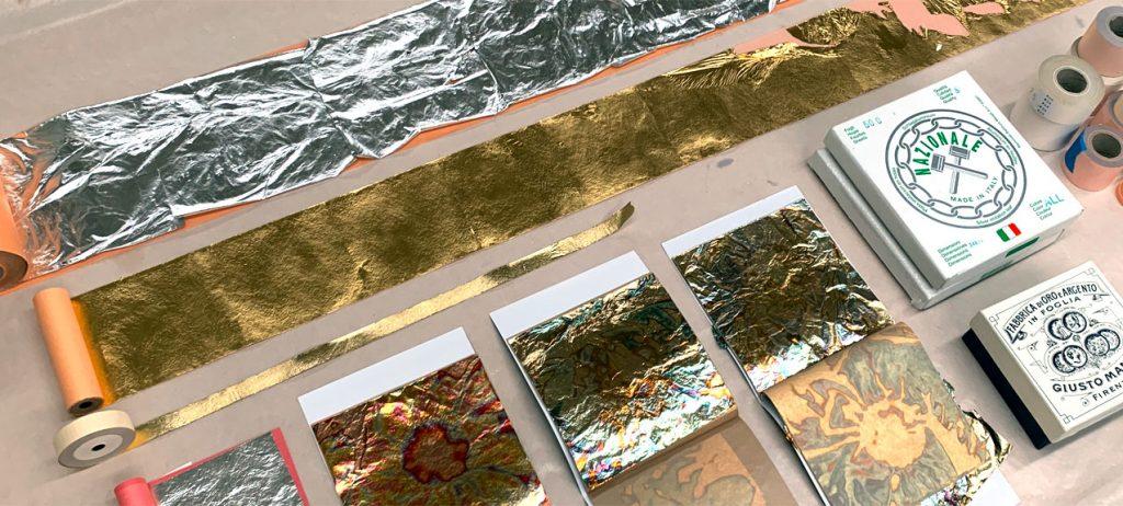 Gold leaf gilding materials