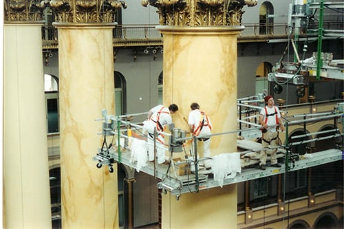 Marbleizing in National Building Museum