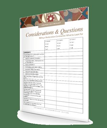 restoration contractor checklist