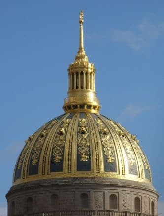 Exterior Gilding on the West Virginia Capitol Dome