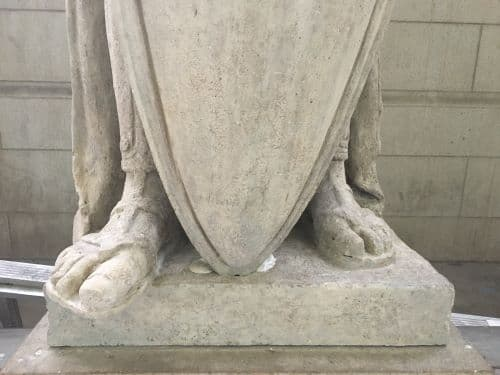 Restoring the Legionnaire Statues of Union Station (After Cleaning Base)