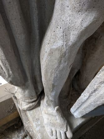 Restoring the Legionnaire Statues of Union Station (After Plaster Repair foot)