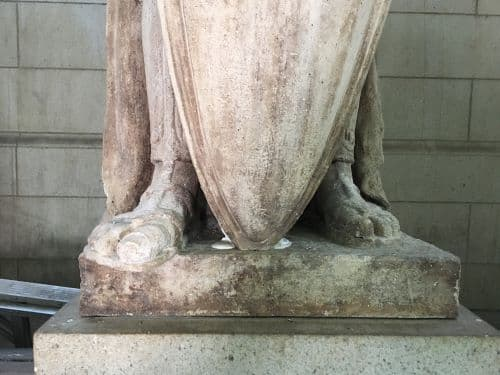 Restoring the Legionnaire Statues of Union Station (Before Cleaning Base)