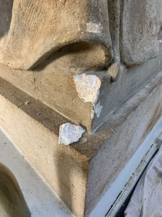 Restoring the Legionnaire Statues of Union Station (During Plaster Repair base)