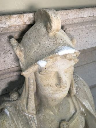 Restoring the Legionnaire Statues of Union Station (During Plaster Repair head)