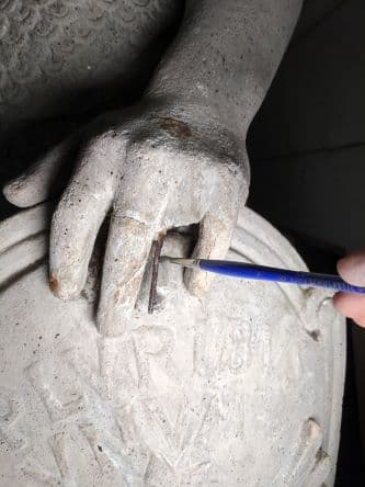 Restoring the Legionnaire Statues of Union Station (Isolation Coating Process on Shield)