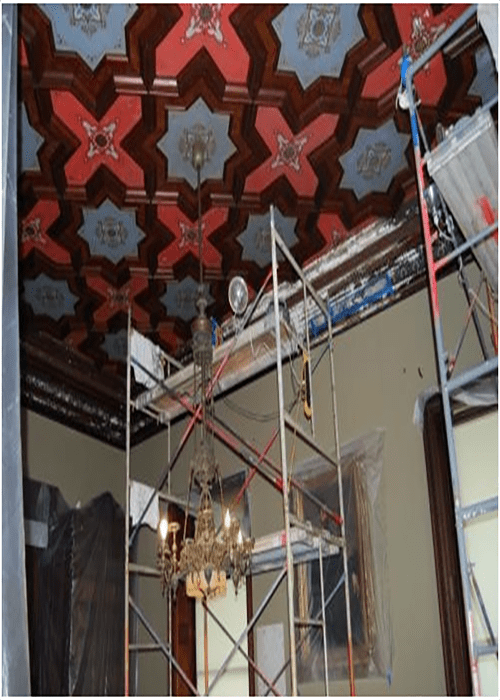 Lockwood Mansion Ceiling Restoration