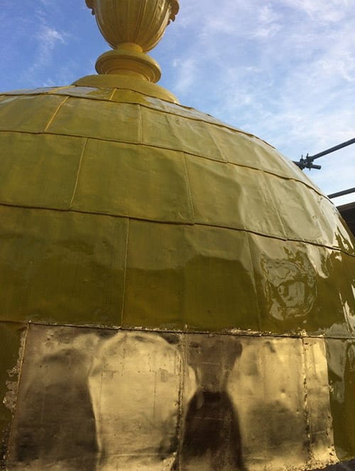 Milford City Hall Dome Gilding