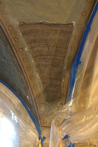 Section In need of plaster patching