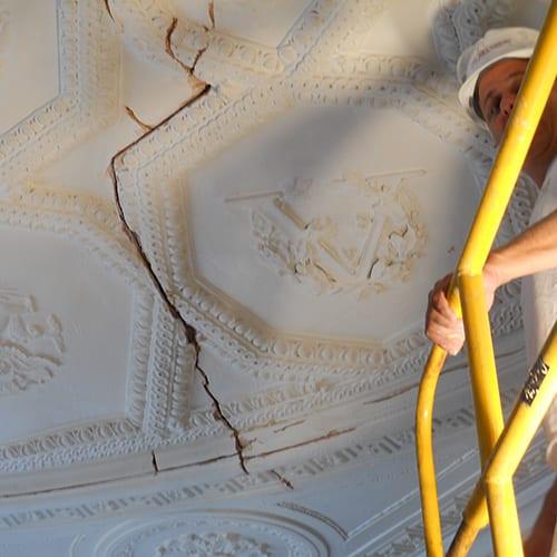 Cracking Plaster