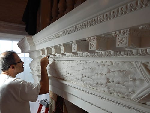 Ornamental Plaster at Maryland State House Old Senate Chamber