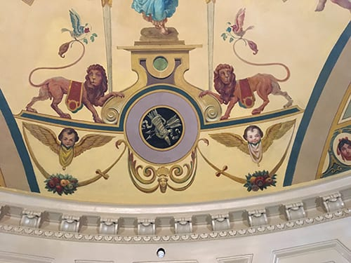 Old Steinway Rotunda-lions after