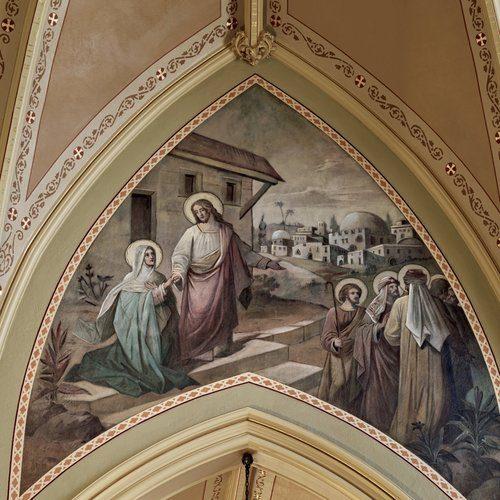 Mural in St. Patrick's Parish