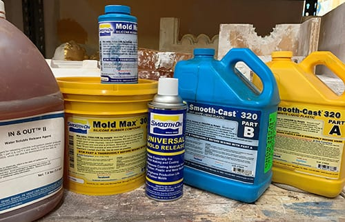 Typical mold making products and release agents