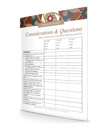 restoration contractor checklist
