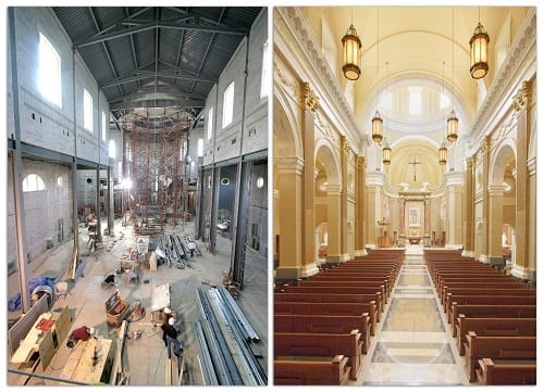 Before After Shrine of Our Lady of Guadalupe