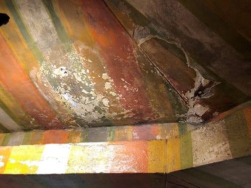 Canopy before Conservation Cleaning and Restoration