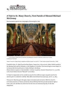 A Visit to St. Mary Church, First Parish of Blessed Michael McGivney_ National Catholic Register