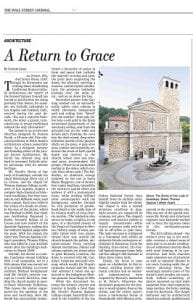 The Wall Street Journal -A Return to Grace