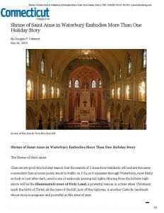Shrine of Saint Anne in Waterbury Embodies More Than One Holiday Story _ THE CONNECTICUT STORY Connecticut Magazine