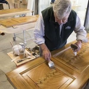 UVA woodgraining