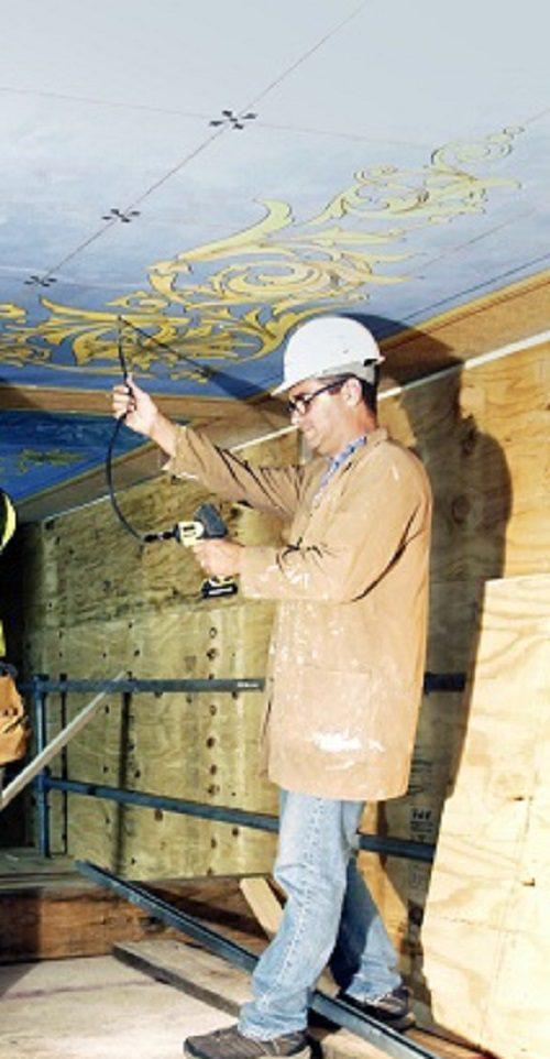 MI captitol ceiling repair