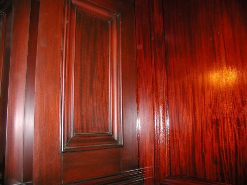 Stain and varnish originally used.