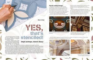 Binah -Yes, that's stenciled article