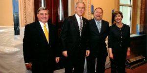 John and President George Bush- award eeob